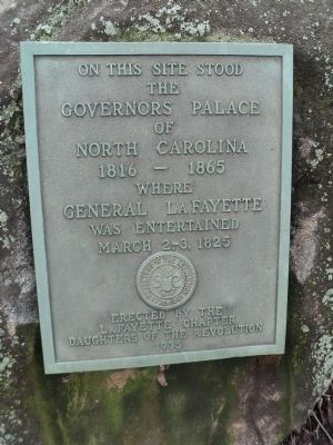 Governor's Palace of North Carolina Marker image. Click for full size.