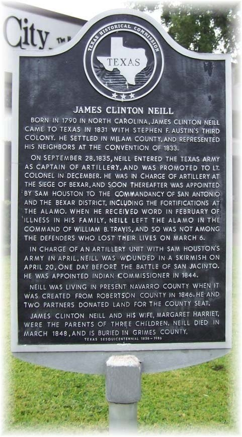 James Clinton Neill Marker