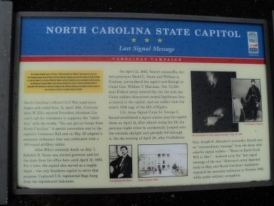 North Carolina State Capitol Marker image. Click for full size.
