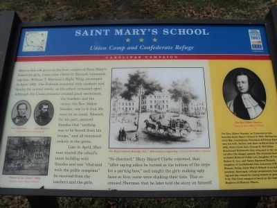 Saint Mary's School Marker image. Click for full size.