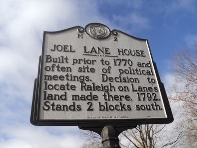 Joel Lane House Marker image. Click for full size.