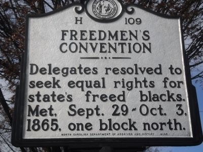 Freedmen's Convention Marker image. Click for full size.