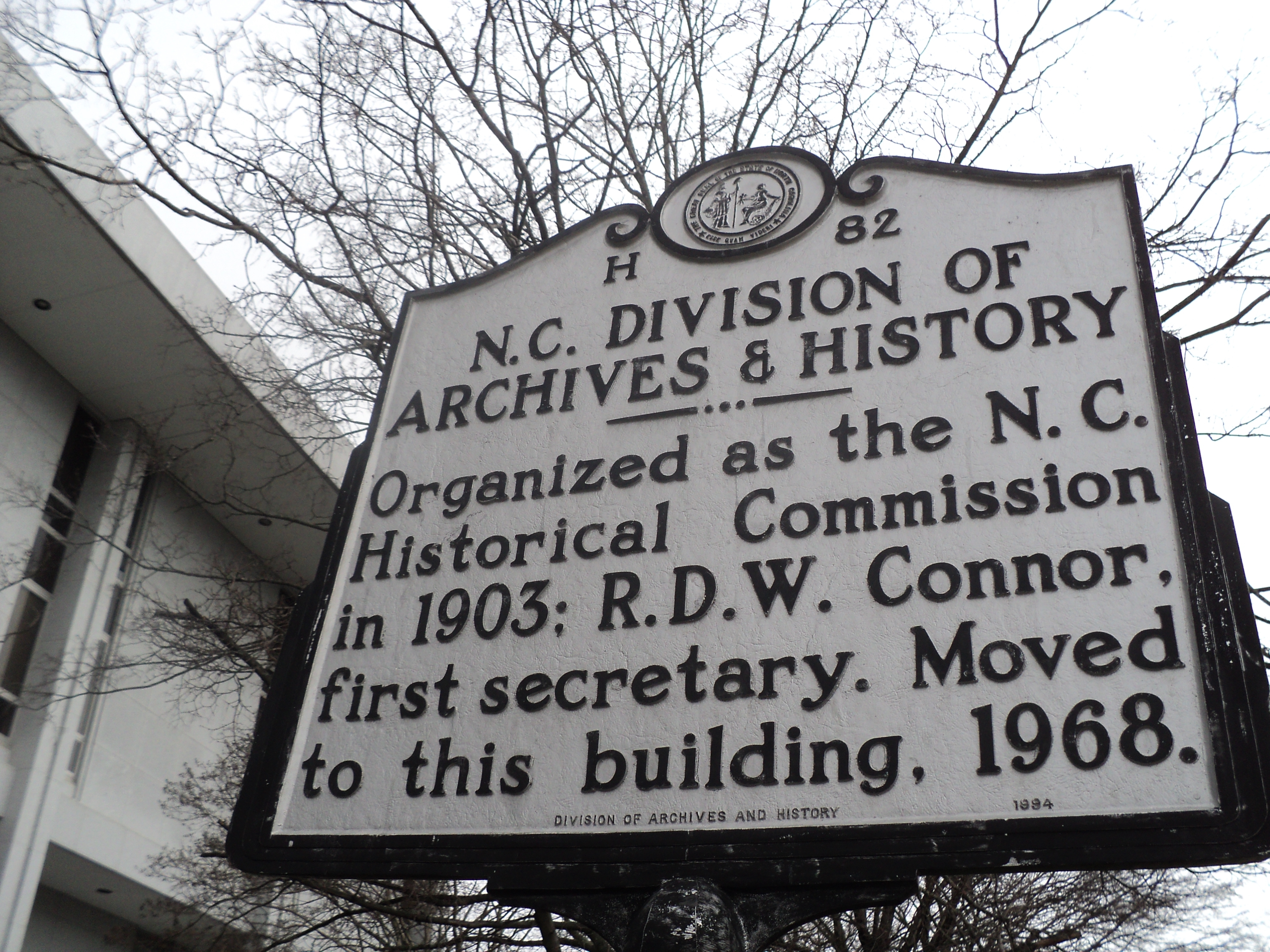 N.C. Division of Archives & History Marker