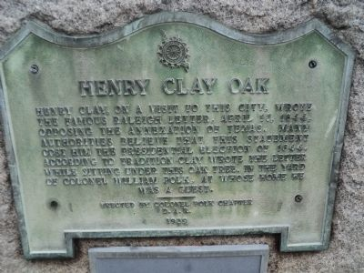 Henry Clay Oak Marker image. Click for full size.