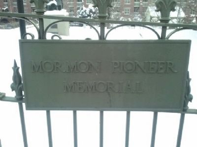Mormon Pioneer Cemetery Marker image. Click for full size.
