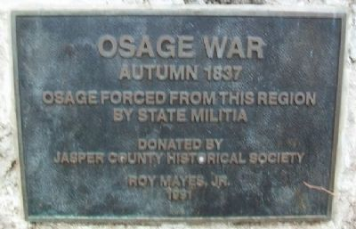 Osage War Marker image. Click for full size.