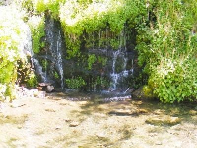 Waterfall Near the Chateau image. Click for full size.