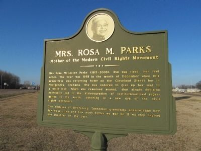 Mrs. Rosa M. Parks Marker image. Click for full size.