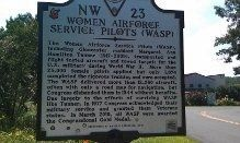 Women Airforce Service Pilots (WASP) Marker image. Click for full size.