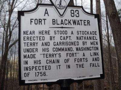 Fort Blackwater Marker image. Click for full size.