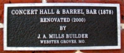 The Concert Hall and Barrel Bar Marker image. Click for full size.