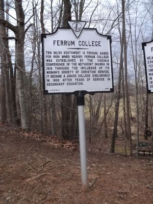 Ferrum College Marker image. Click for full size.