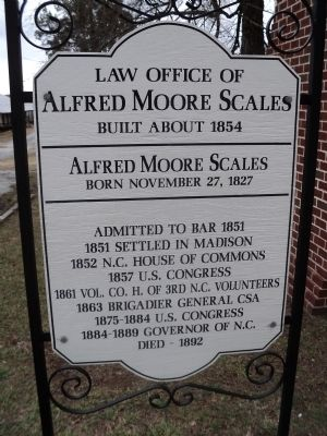 Law Office of Alfred Moore Scales Marker image. Click for full size.