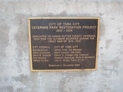 Dedication Plaque at the Entrance to the Monument image. Click for full size.