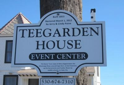 Teegarden House Marker image. Click for full size.
