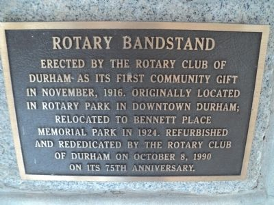 Rotary Bandstand Marker image. Click for full size.
