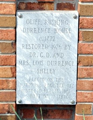 Oliff, Rushing, Durrence House Marker image. Click for full size.