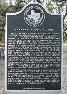Carver School Grounds Marker image. Click for full size.
