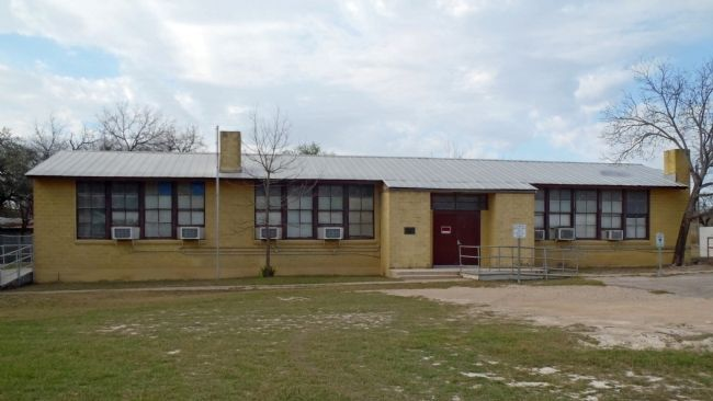 Second Carver School erected in 1944 by U.S. Army image. Click for full size.