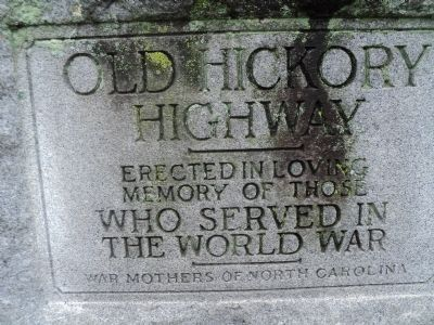 Old Hickory Highway Marker image. Click for full size.