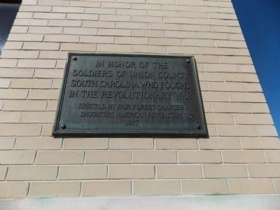 Union County Revolutionary War Marker image. Click for full size.
