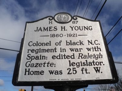James H. Young Marker image. Click for full size.