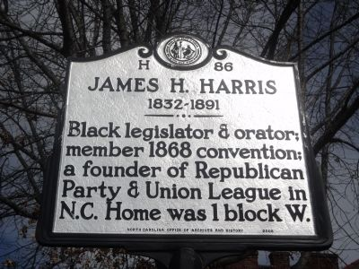 James H. Harris Marker image. Click for full size.
