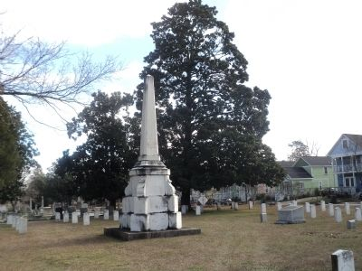 Monument in Historic Oakwood Cemetery image. Click for full size.