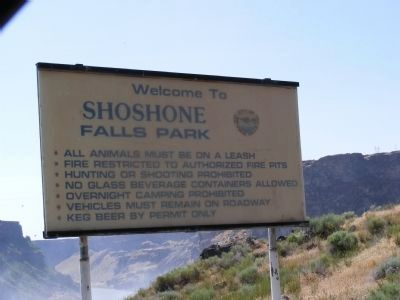 Shoshone Falls Park Information Sign image. Click for full size.