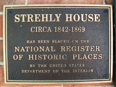 Strehly House NRHP Marker image. Click for full size.