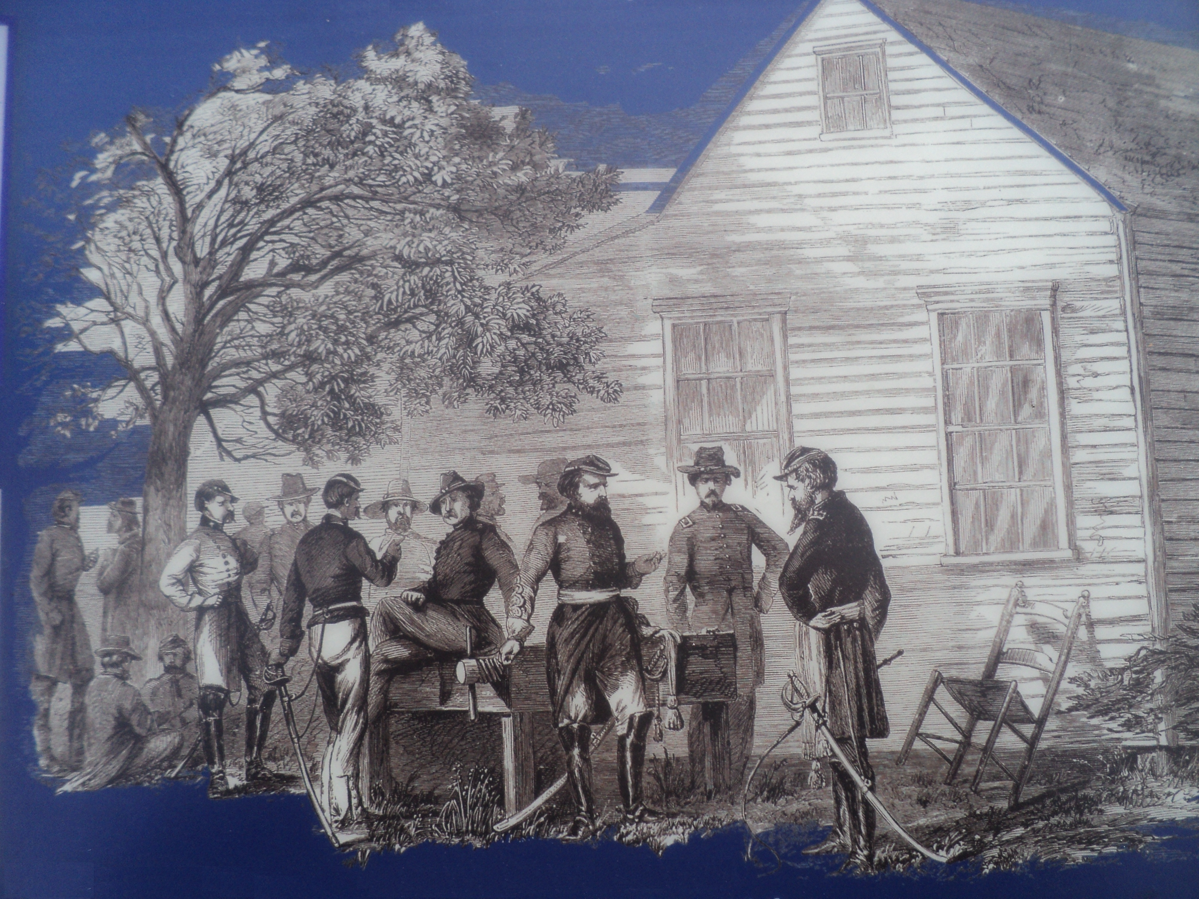 Sketch of Union and Confederate Officers