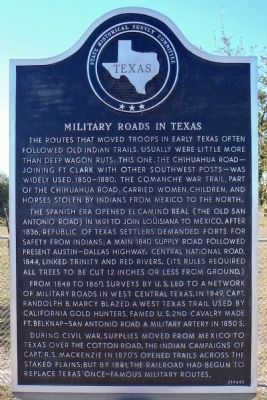 Military Roads in Texas Marker image. Click for full size.