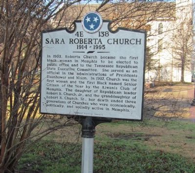 Sara Roberta Church Marker image. Click for full size.