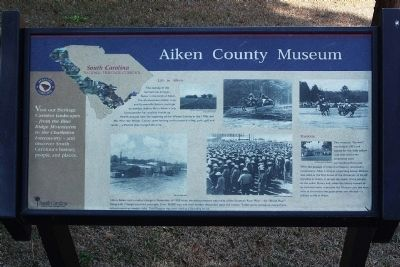 Aiken County Museum Marker image. Click for full size.