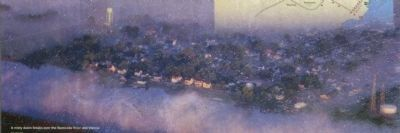 A misty dawn breaks over the Nanticoke River and Vienna. image. Click for full size.