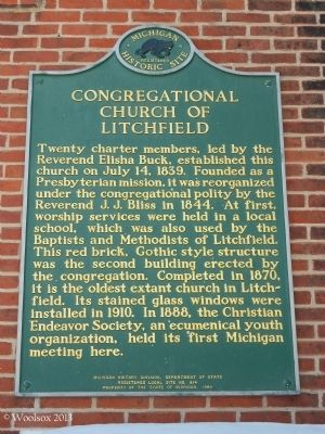 Congregational Church of Litchfield Marker image. Click for full size.