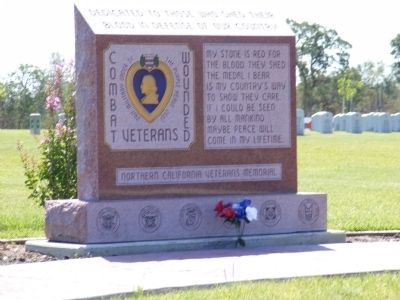Purple Heart Wounded Veterans Memorial image. Click for full size.