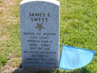 James E. Swett Burial Site image. Click for full size.