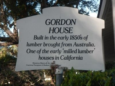 Gordon House Marker image. Click for full size.