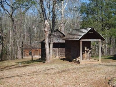 Traveler&#39;s Rest State Historic Site<br>Well House and Other Buildings image. Click for full size.