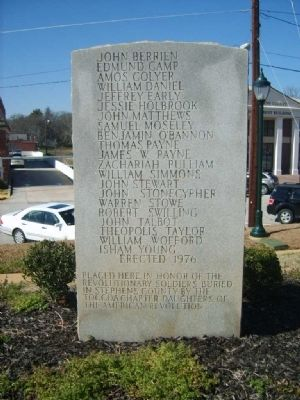 Stephens County Revolutionary Soldiers Monument image. Click for full size.