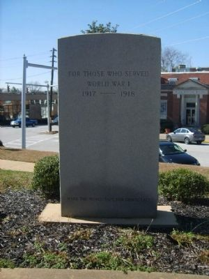 Stephens County World War I Monument image. Click for full size.