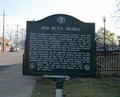 Phi Beta Sigma Marker image. Click for full size.
