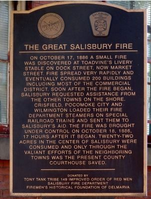 The Great Salisbury Fire Marker image. Click for full size.