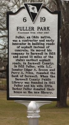 Fuller Park Marker reverse side image. Click for full size.