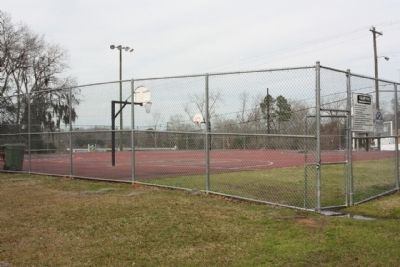 Fuller Park, today's Basketball courts image. Click for full size.