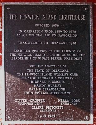The Fenwick Island Lighthouse Marker image. Click for full size.