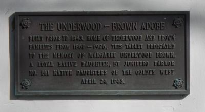 The Underwood – Brown Adobe Marker image. Click for full size.