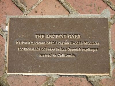 Monterey History Time Line Marker - The Ancient Ones image. Click for full size.