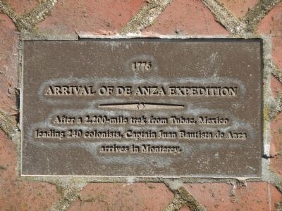 Monterey History Time Line Marker - 1776 – Arrival of de Anza Expedition image. Click for full size.
